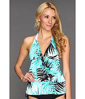 Caribbean Joe - Palm-Palm - Ruffle Layered Halter
