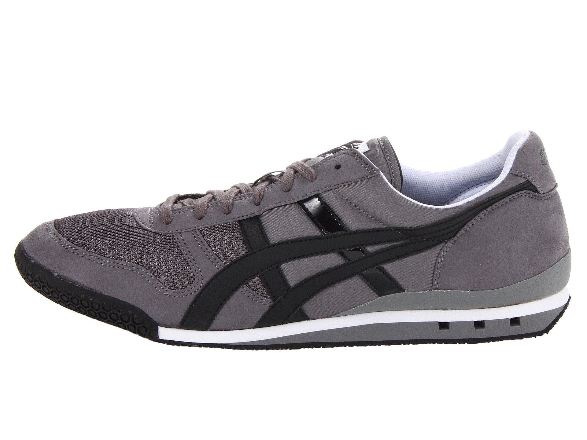 onitsuka tiger by asics ultimate 81 charcoal black free shipping both ways. Black Bedroom Furniture Sets. Home Design Ideas
