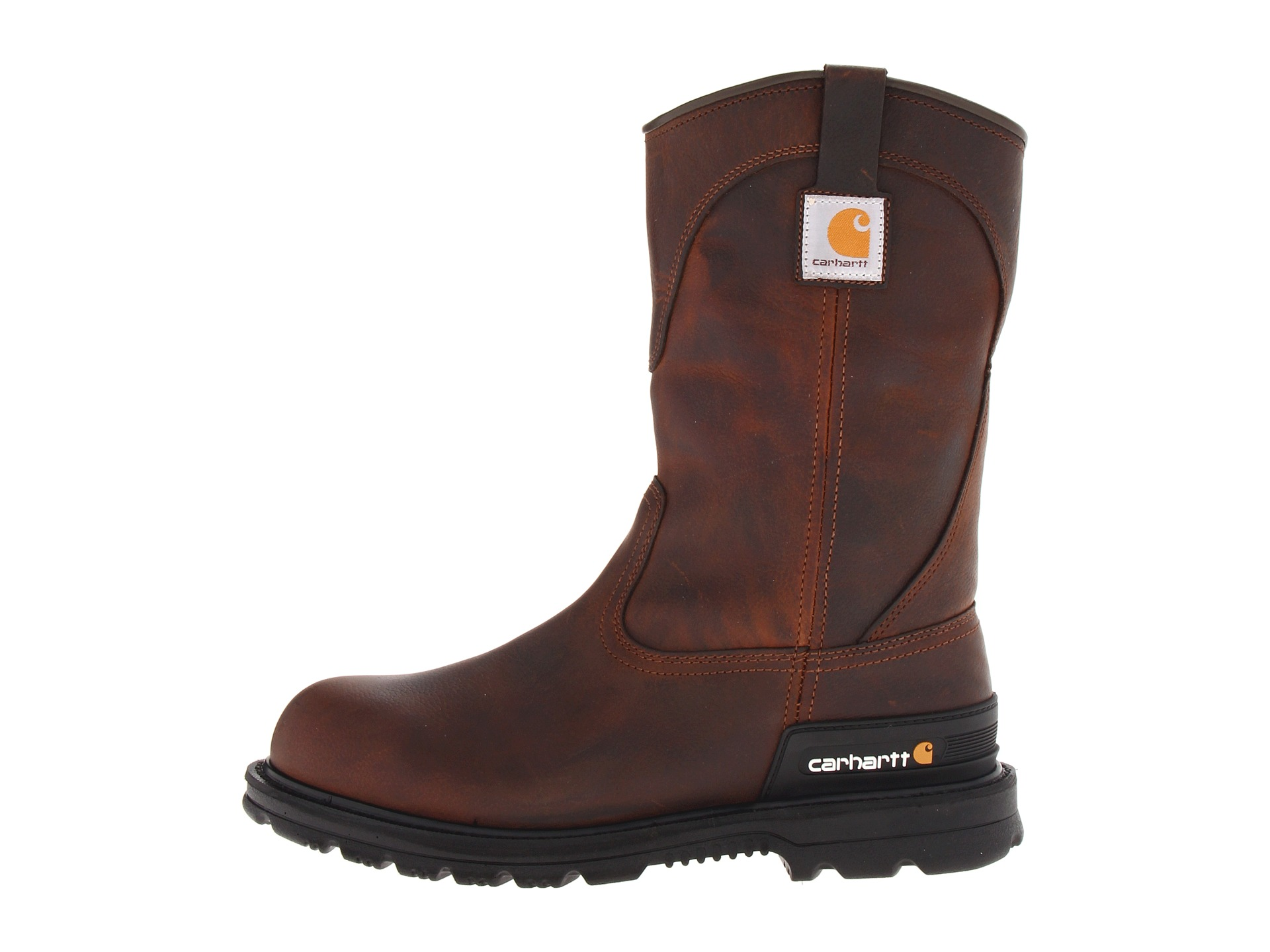 carhartt wellington unlined safety toe boot zappos