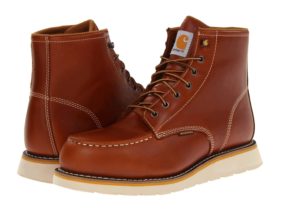Carhartt 6 Moc Toe Wedge Safety Toe Boot Tan Mens Work Boots