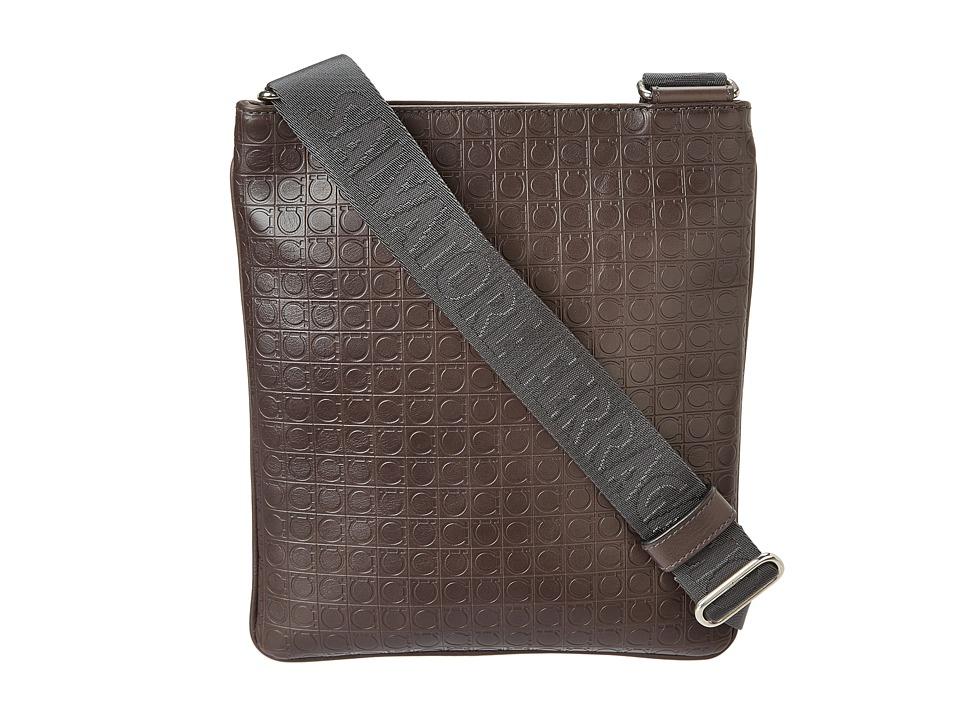 Salvatore Ferragamo - Gamma Soft Shoulder Bag (Caffe) Messenger Bags