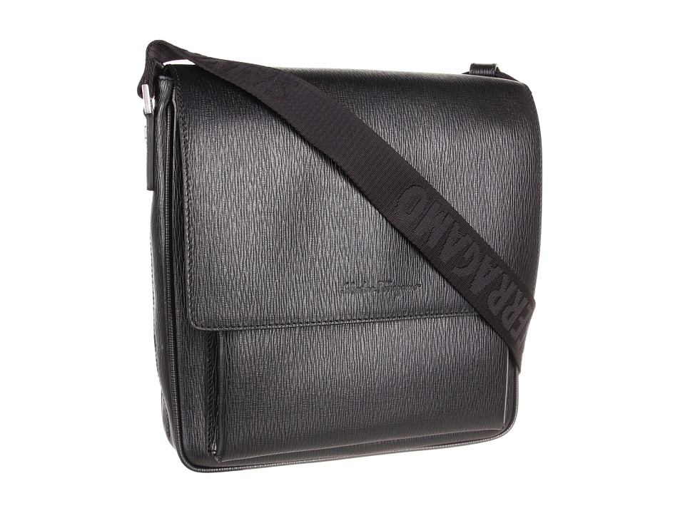 Salvatore Ferragamo Revival Messenger (Black) Messenger Bags