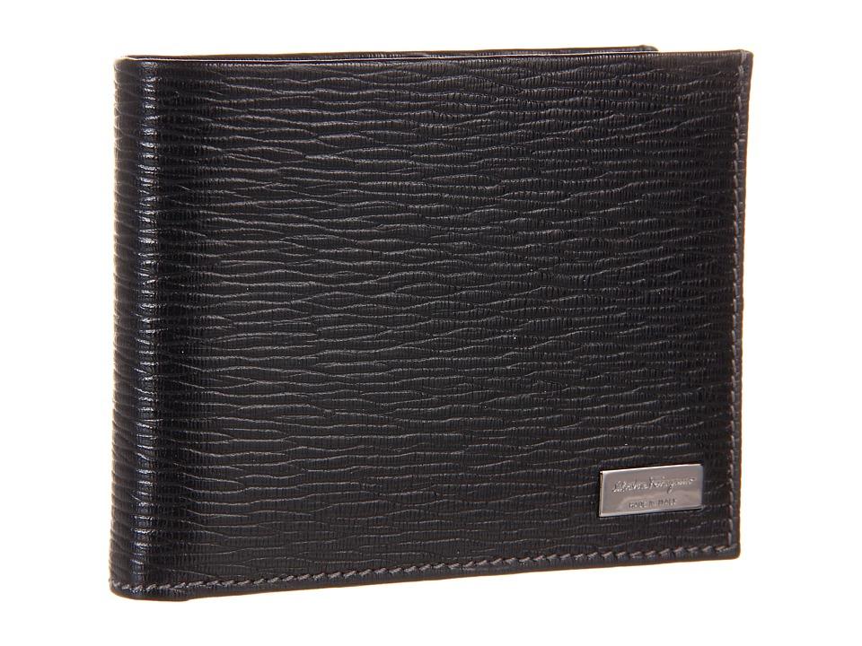 Salvatore Ferragamo - Revival Lux Portfolio Wallet (Black) Bill-fold Wallet