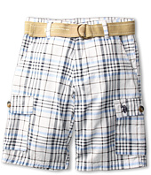 U.S. Polo Assn Kids - Plaid Cargo Short with Belt (Big Kids)