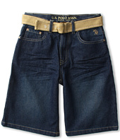 U.S. Polo Assn Kids - 5-Pocket Belted Short (Big Kids)