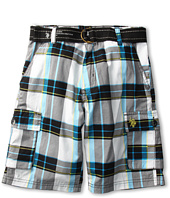 U.S. Polo Assn Kids - Plaid Belted Poplin Short (Big Kids)