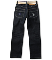 U.S. Polo Assn Kids - 5-Pocket Belted Jean (Big Kids)