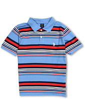 U.S. Polo Assn Kids - Striped Polo with Small Pony (Big Kids)