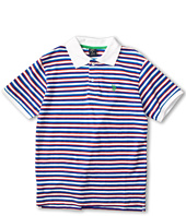U.S. Polo Assn Kids - Striped Polo with Small Pony Embroidery (Big Kids)