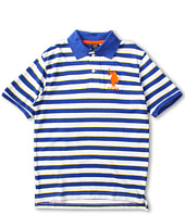 U.S. Polo Assn Kids - Striped Polo with Big Pony Embroidery (Big Kids)