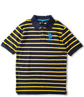 U.S. Polo Assn Kids - Yarn Dyed Striped Polo with Big Pony (Big Kids)
