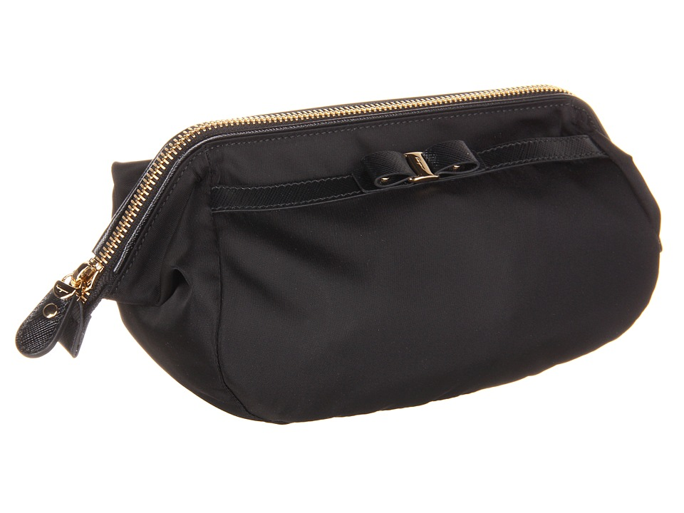 Salvatore Ferragamo Vara Bow Cosmetic Case (Nero) Cosmetic Case