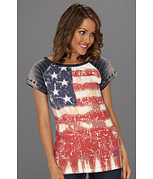 Double D Ranchwear - Faded Flag Tee