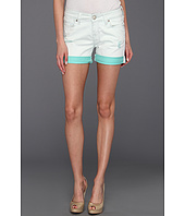 Mavi Jeans - Emily Cut-Off Boyfriend Short in Mint Reversed