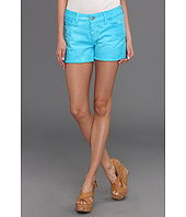 Mavi Jeans - Emily Cut-Off Boyfriend Short in Turquoise Neon