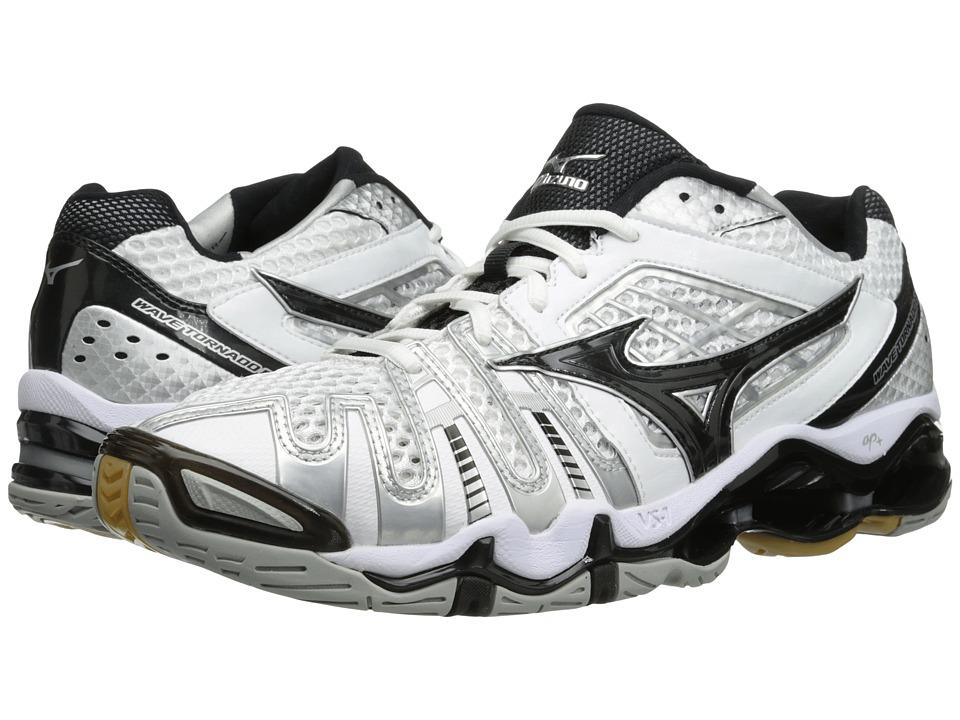 Mizuno Wave Tornado 8 White/Black Womens Volleyball Shoes