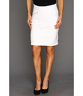 Jag Jeans Petite - Petite Maddock Pull-On Denim Skirt in White