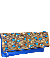 BCBGMAXAZRIA - Rihanna Glass Beads Foldover Clutch