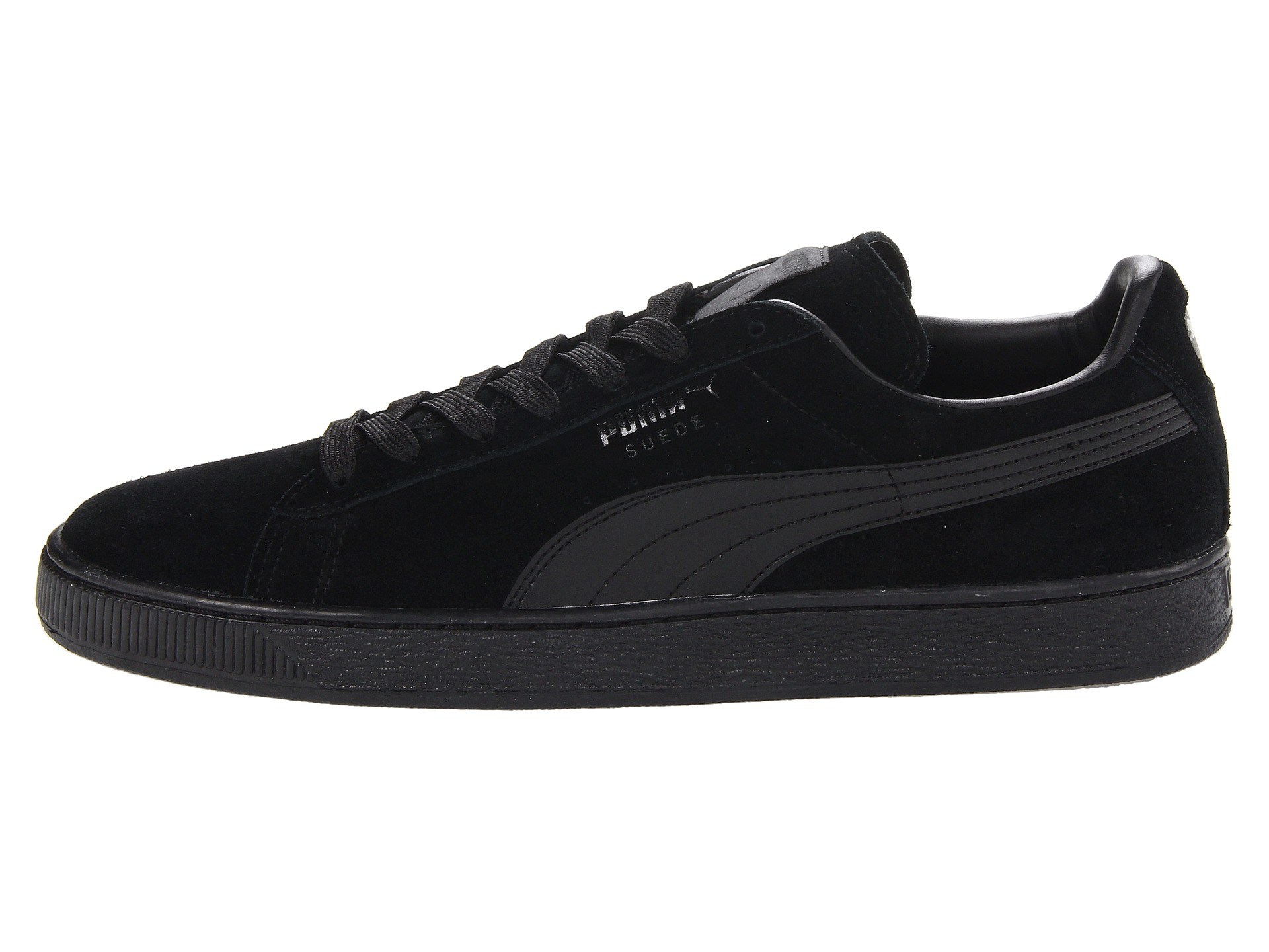 puma suede classic black black free shipping. Black Bedroom Furniture Sets. Home Design Ideas