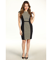 Muse - Fitted Knit Stripe/Solid Dress