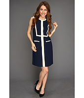 Muse - Trimmed Bib Sheath Dress
