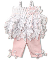 Kate Mack - Pin Dot Ruffle Tunic and Legging Set (Infant)