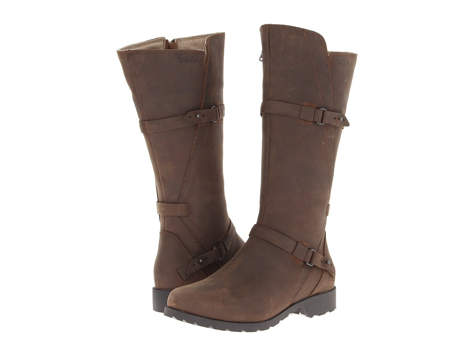 Teva De La Vina Brown Womens Zip Boots