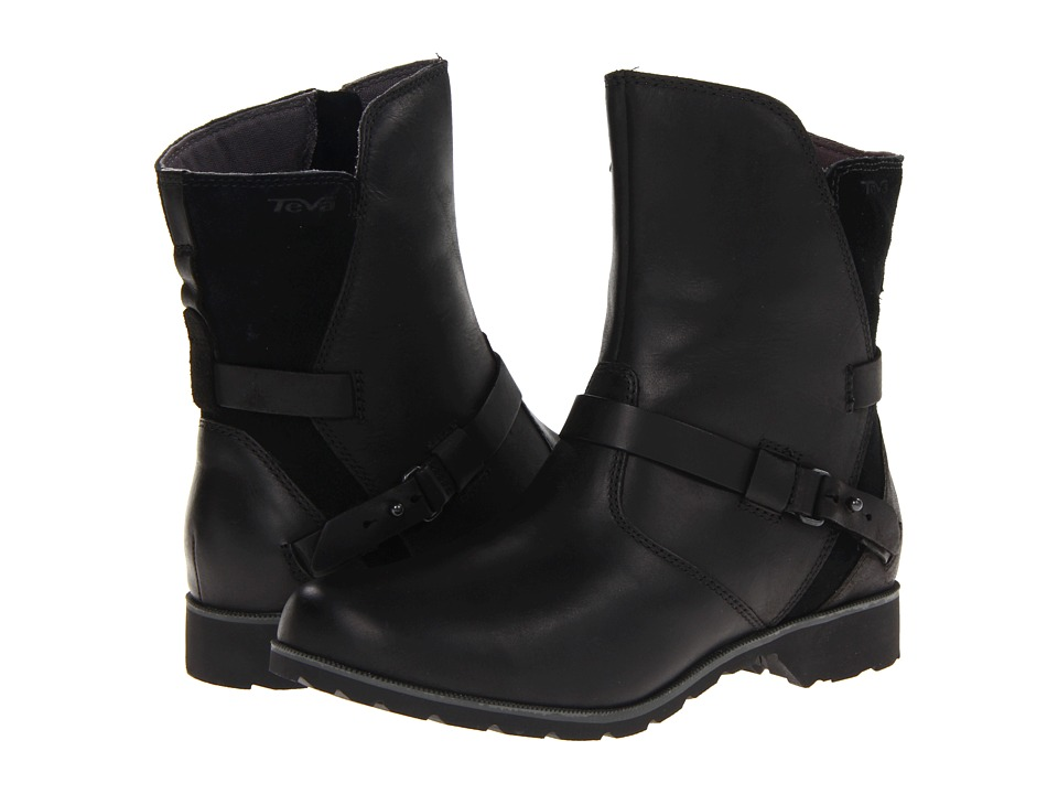 Teva De La Vina Low Black Womens Zip Boots