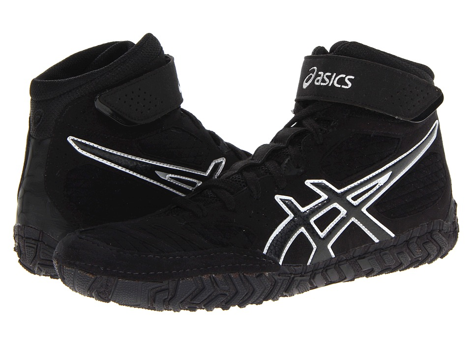 ASICS Aggressor 2 Black/Onyx/Silver Mens Wrestling Shoes