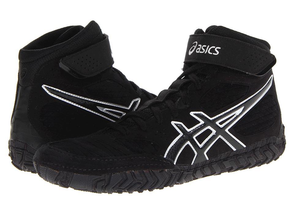 ASICS Aggressor 2 Black/Onyx/Silver Mens Wrestling Shoes