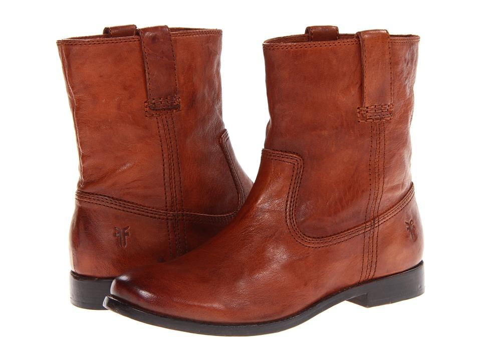 Frye Anna Shortie Cognac Antique Soft Vintage Womens Boots