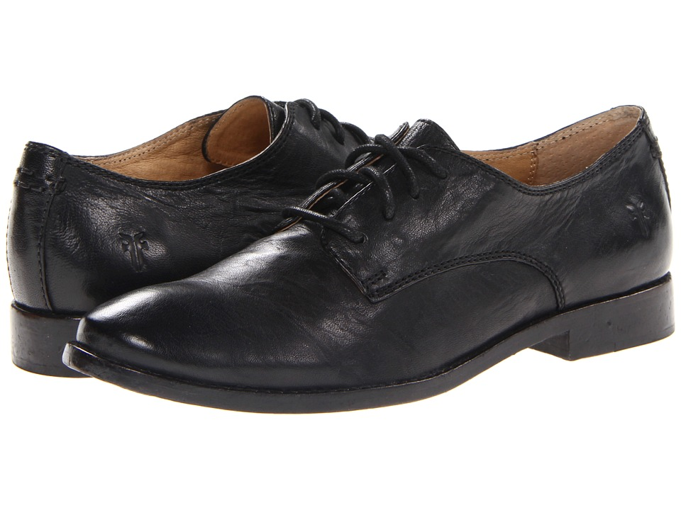 Frye - Anna Oxford (Black Antique Soft Vintage) High Heels