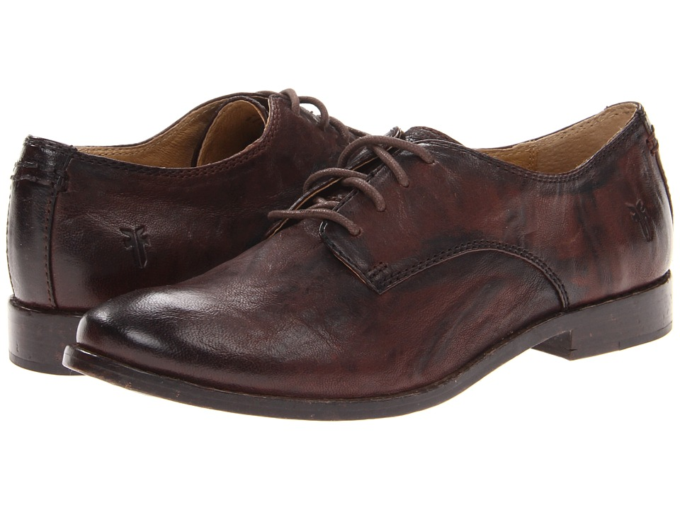 Frye - Anna Oxford (Dark Brown Antique Soft Vintage) High Heels