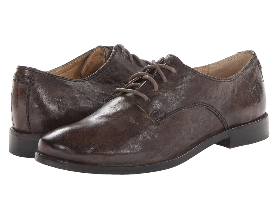 Shop Frye online and buy Frye Anna Oxford Taupe Antique Soft Vintage High Heels shoes online