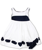 Biscotti - Ship Shape Girls' White Poplin Dress with Navy Accents (Toddler)