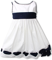 Biscotti - Ship Shape Girls' White Poplin Dress with Navy Accents (Little Kids)
