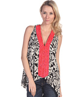 Tbags Los Angeles - Sleeveless Top with Fuschia Beads