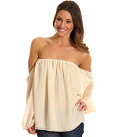 Tbags Los Angeles - Cutout Long Sleeves Chiffon Tube Top