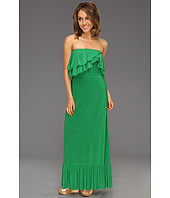 Tbags Los Angeles - Two Layer Ruffle Tube Long Dress