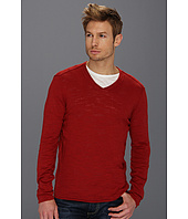 John Varvatos Star U.S.A. - Linen Blend V-Neck Sweater