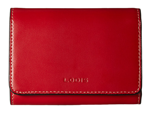 Lodis Accessories Audrey Mallory French Purse - Red