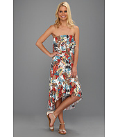 Tbags Los Angeles - Two Layer Ruffle Tube High Low Dress with Ruffled Hem