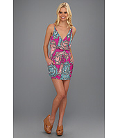 Tbags Los Angeles - Spaghetti Strap Faux Wrap Mini Dress