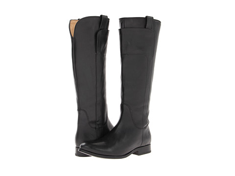 Frye Melissa Tall Riding - Black Soft Vintage Leather