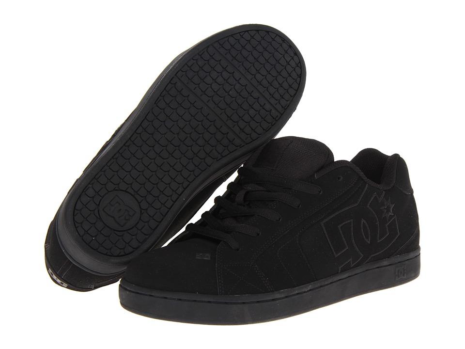 DC Net (Black/Black/Black) Men's Skate Shoes