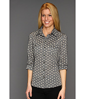 KUT from the Kloth - Jules Polka Dot Chambray Blouse