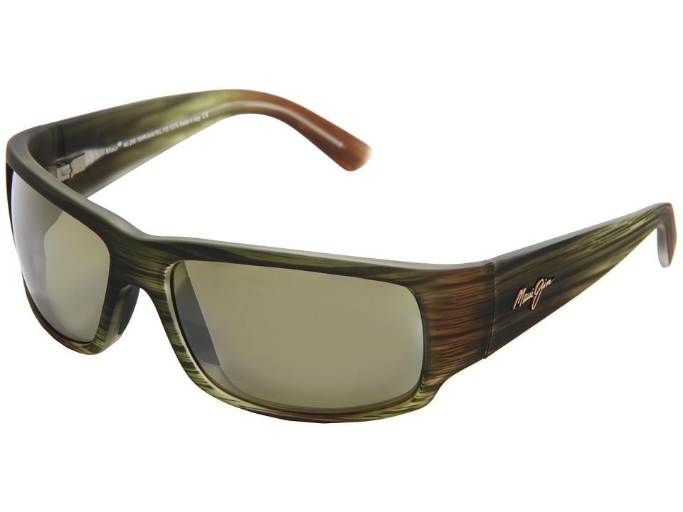 Maui Jim - World Cup (Matte Green Stripe Rubber/Maui HT) Sport Sunglasses