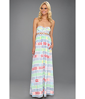 Mara Hoffman - Leis Cotton Voile Lattice Bustier Maxi Dress