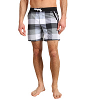 Original Penguin - Large Plaid Fixed Waist Volley Swim Short