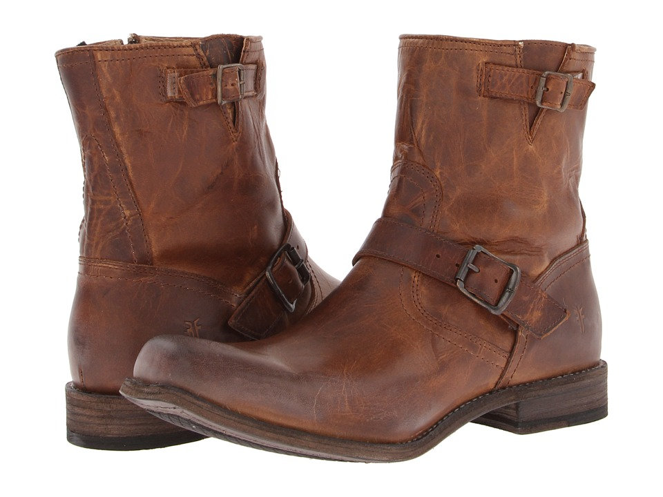 Frye - Smith Engineer (Tan Antique Pull Up) Cowboy Boots